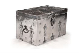 A polished steel trunk