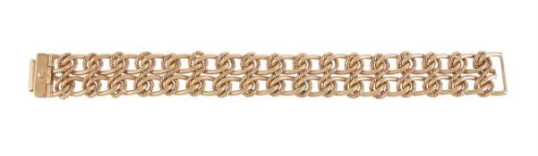 A 1970s 9 carat gold fancy link bracelet