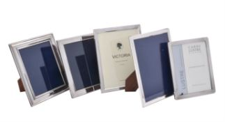 A pair of silver mounted photo frames by Victoria Silverware Ltd.