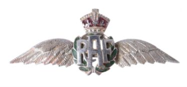 A mid 20th century gold coloured RAF sweetheart brooch