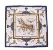 Hermès, Harnais Français Premier Empire, a silk scarf
