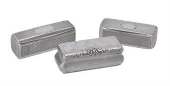 An Austrian silver oblong box