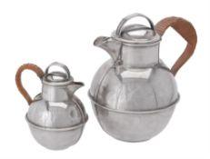 A silver Guernsey cream jug by Kenneth Tyler Key