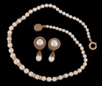 A pair of cultured pearl earrings by Cassandra Goad