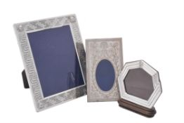 An Italian silver coloured mounted photo frame for Versace