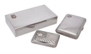 An Austrian silver rectangular cigarette case