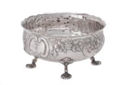An Austrian silver shaped circular bowl
