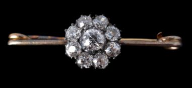 A late Victorian diamond cluster brooch