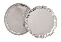A George III silver circular waiter