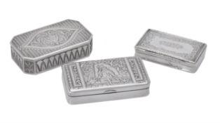 An Austrian silver rectangular box