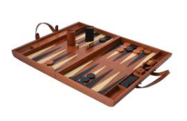 Mufti, Michael d'Souza, a leather cladded backgammon board