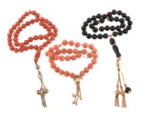 Y Coral prayer beads
