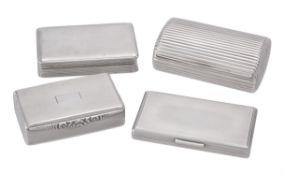 A silver rectangular tobacco box by D. Bros