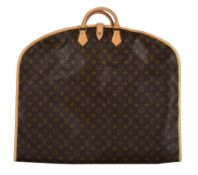 Louis Vuitton, a monogrammed canvas suit carrier