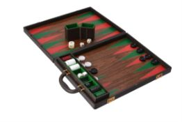 Gucci, a leather travelling backgammon set