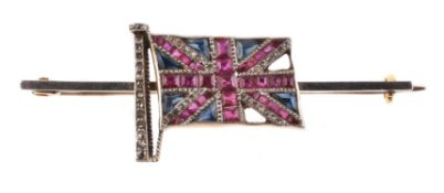 An Edwardian Union Jack bar brooch