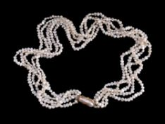 A freshwater cultured pearl necklace