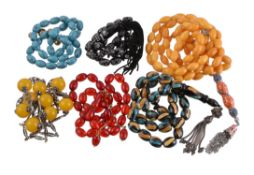 A collection of prayer beads