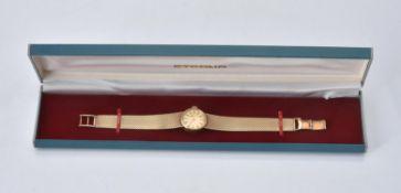 Eterna, Lady's 9 carat gold bracelet watch
