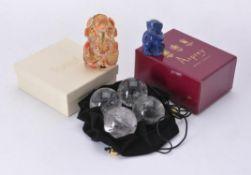 A rock crystal model of Ganesh