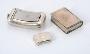 A Victorian silver shaped rectangular vinaigrette by David Pettifer