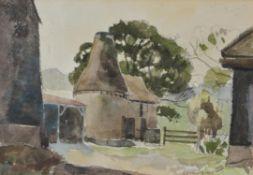 λ Elwin Hawthorne (British 1905-1954) , Adam's Farm, Crowborough