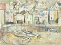 λ George Hammond Steele (British 1900-1960) , Harbour scene, thought to be St. Ives