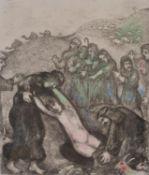 λ Marc Chagall (French/Russian 1887-1985), Joseph et ses frères (pl. 18 from La Bible) (Sorlier 216