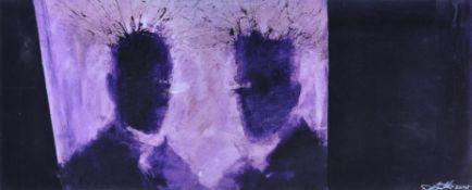 Richard Art Hambleton (Canadian 1952-2017), Purple Shadow Head, 2014