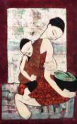Kelyne (Vietnamese b. 1955), Mother and child