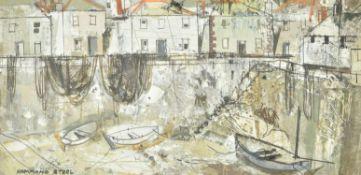 λ George Hammond Steele (British 1900-1960) , Drying nets