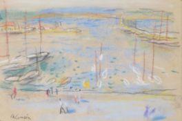λ Charles Camoin (French 1879-1965) , Port de Saint Tropez, esquisse