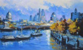 λ Csilla Orban (Hungarian b. 1961), London panorama