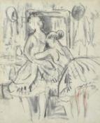λ Laura Knight (British 1877-1970), Ballerinas, a sketch