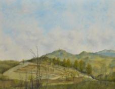 λ Gilbert Speechley (British 1926-1999), Landscape, Bergstrasse, Germany