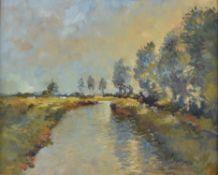 λ Matt Bruce (British 1915-2000), River landscape