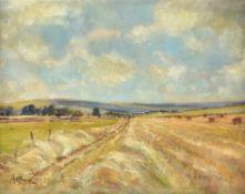 λ Matt Bruce (British 1915-2000), Hay making