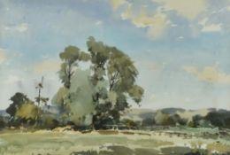 λ Edward Wesson (British 1910-1983), Landscape with tree