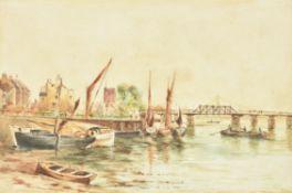 Walter Greaves (British 1846-1930), Battersea Bridge