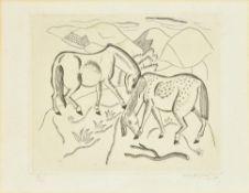 λ David Jones (Welsh 1895-1974), Two horses