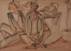 Ragheb Ayad (Egyptian 1892-1982), The musicians