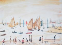 λ Laurence Stephen Lowry (British 1887-1976), Yachts, 1959