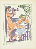 λ Pablo Picasso (Spanish 1881-1973), Faun et Marin (Bloch 800)