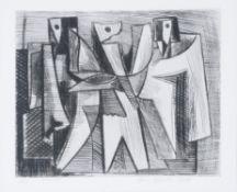 λ Jan Hladik (Slovak 1927-2008), Trojice (Trinity)Etching