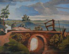 λ Walter Steggles (British 1908-1997) , Norfolk landscape
