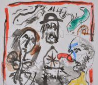 λ Michael Broido (British 1927-2013) , Abstract composition with figures