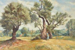 λ Eric Bruce Mckay (British 1907-1989) , Renoir's garden at Cagnes