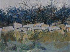 λ Charles Bartlett (British b.1921) , The Stone Wall