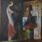 Moses Aleksandrovich Feigin (Russian 1904-2008) , Artist with the Model
