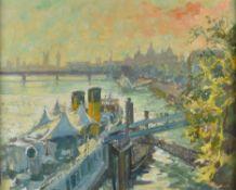λ Tessa Spencer Pryse (Welsh b.1940) , From Waterloo Bridge